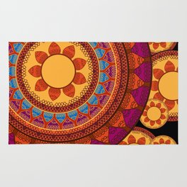Ethnic Indian Mandala Rug