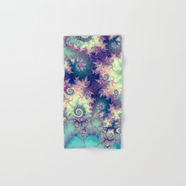 Violet Teal Sea Shells, Abstract Underwater Forest  Hand & Bath Towel
