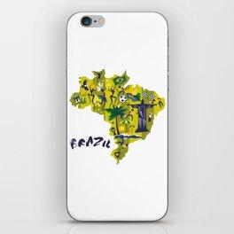 Abstract Brazil Soccer Mural iPhone Skin