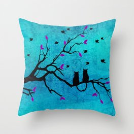 Lovecats - Together forever Throw Pillow