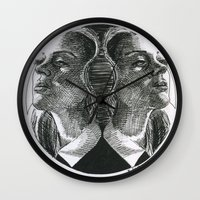 coven Wall Clocks featuring Coven by Kimberly Christie