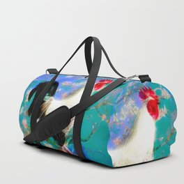 Provencal cock against the background of Van Gogh Duffle Bag