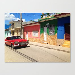Cars in Cuba Canvas Print