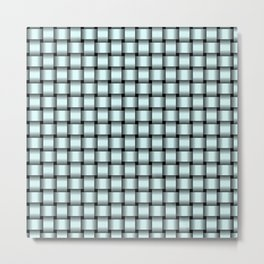 Small Light Cyan Weave Metal Print