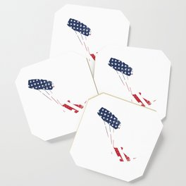 Kite Surfing Patriotic American Flag Water Sports Sailboarding Action Sports Adventure Gifts Coaster