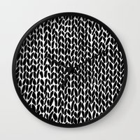 lawyer Wall Clocks featuring Hand Knitted Black S by Project M