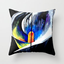 colored Cala lily Throw Pillow