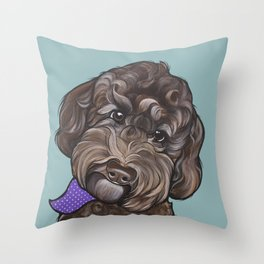 Maddie the Doodle Throw Pillow