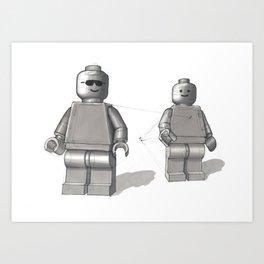 Building Block Men Art Print