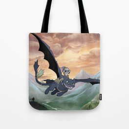 How to Train Your Stitch: Flying Lessons with Toothless Tote Bag