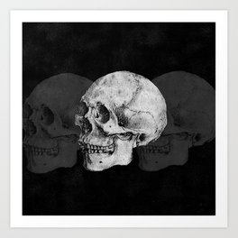 We Left As Skeletons  Art Print