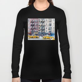 New York, wtercolor sketch Long Sleeve T-shirt