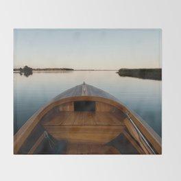 Summer Mornings On The Lake Throw Blanket