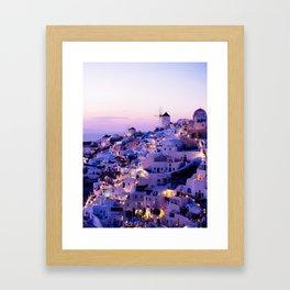 Santorini Night Framed Art Print