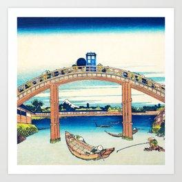 Tardis At The Bridge Art Print