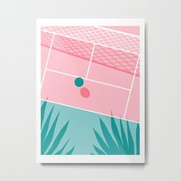 Jock - tennis sport retro neon throwback palm springs los angeles hollywood california sunny pop art Metal Print