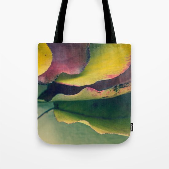 Fall Leaves II - Yellow, Lime Green, Red Purple Tote Bag
