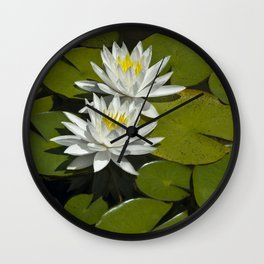 Two Water Liles Wall Clock