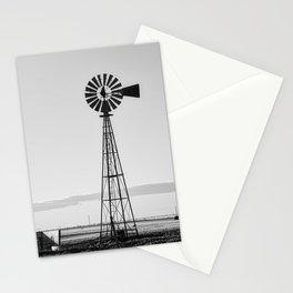 Windmill #blackandwhite Stationery Cards