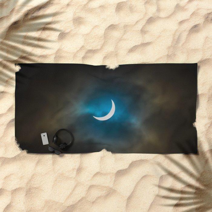 Solar Eclipse 3 Beach Towel