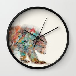 into the wild (the grizzly bear Wall Clock