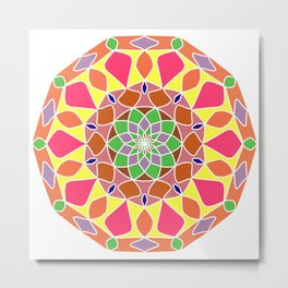 Colorful mandala abstract Metal Print