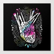 A Heart For Art Canvas Print