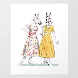 Bestial ladies Art Print