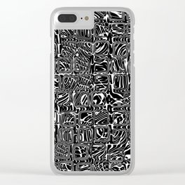 Abstract MAGA Typography Clear iPhone Case