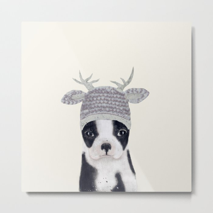 little boston ohh deer Metal Print