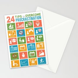 24 Tips to Overcome Procrastination: A Helpful Visual Guide Stationery Cards