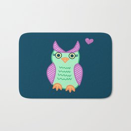 I heart owls. Bath Mat