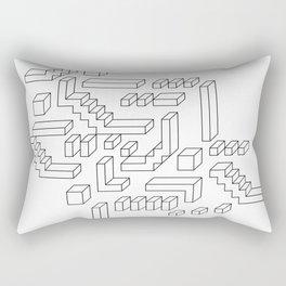 Geometric print design - Geo Cubes Rectangular Pillow