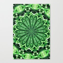 Mystery Green Puzzle Canvas Print