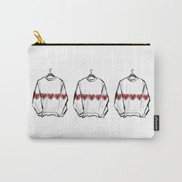 Red heart eye sweater Carry-All Pouch