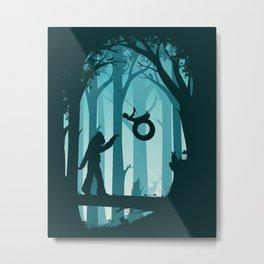 Sasquatch & Me Metal Print