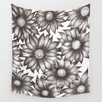 daisy Wall Tapestries featuring Daisy by nicolefuscsics