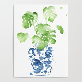 Ginger Jar + Monstera Poster