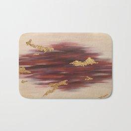 Autumn Skies Abstract Fall Painting Bath Mat