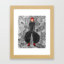 Heroes Fashion 6 Framed Art Print