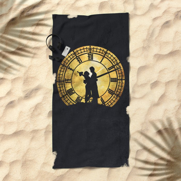 Through Time and Space Beach Towel