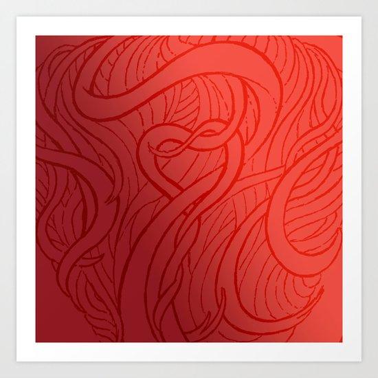 LOVE HAIR Art Print