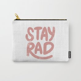 Stay Rad Vintage Pink Carry-All Pouch