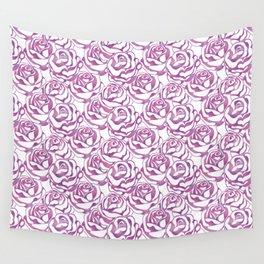 Elegant beautiful pink rose Wall Tapestry