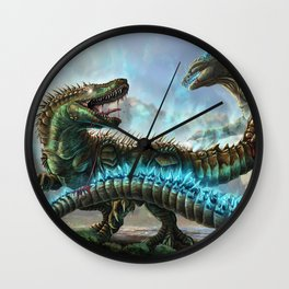 Godzilla VS. Atomic Rex Wall Clock