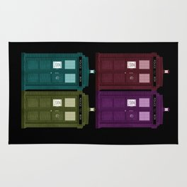 Colorful Police Boxes Rug