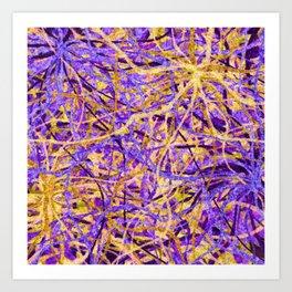 Purple and Gold Celebration Art Print