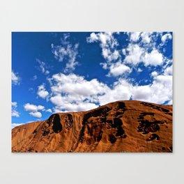 A clear day at Uluru. Canvas Print