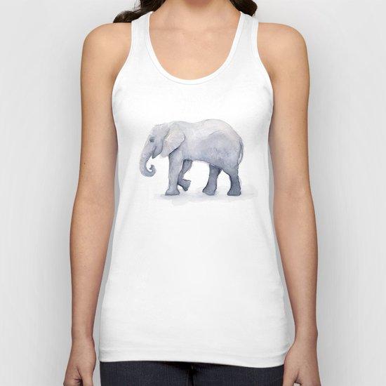 Elephant Watercolor Unisex Tank Top