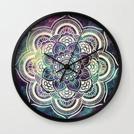 Galaxy Mandala : Deep Pastels Wall Clock
